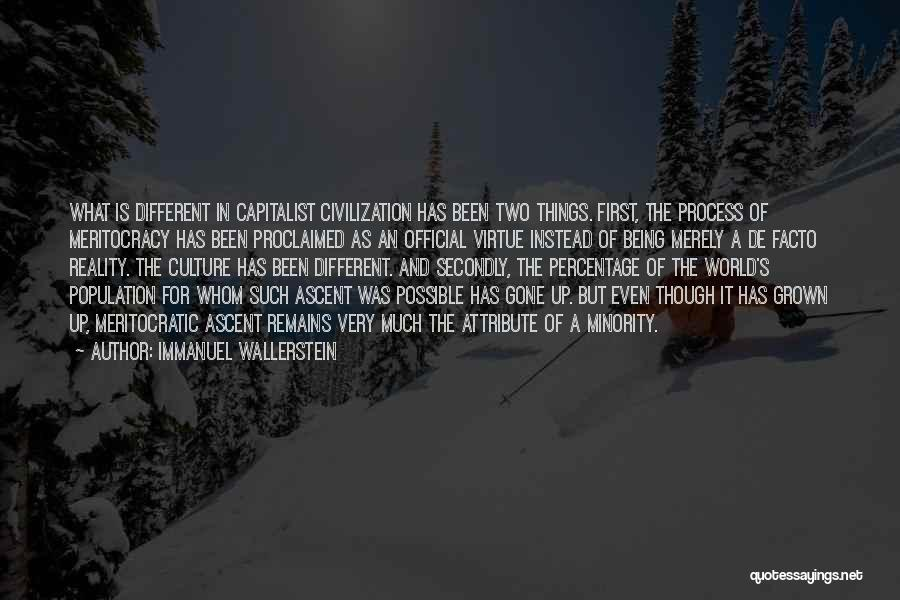 Things Being Possible Quotes By Immanuel Wallerstein