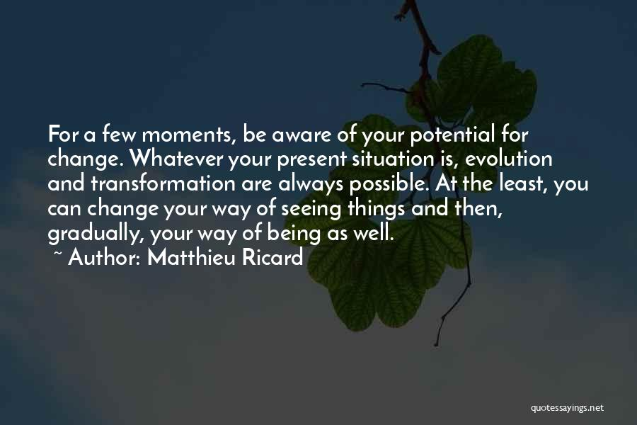 Things Being Possible Quotes By Matthieu Ricard