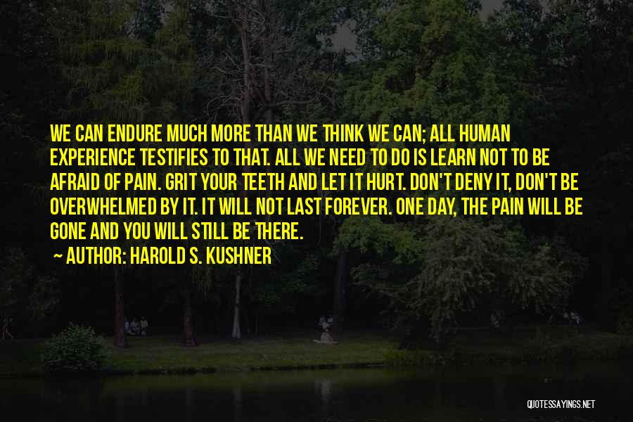 Things Don't Last Forever Quotes By Harold S. Kushner
