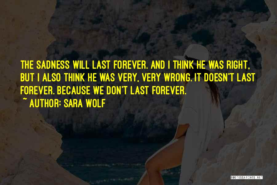 Things Don't Last Forever Quotes By Sara Wolf