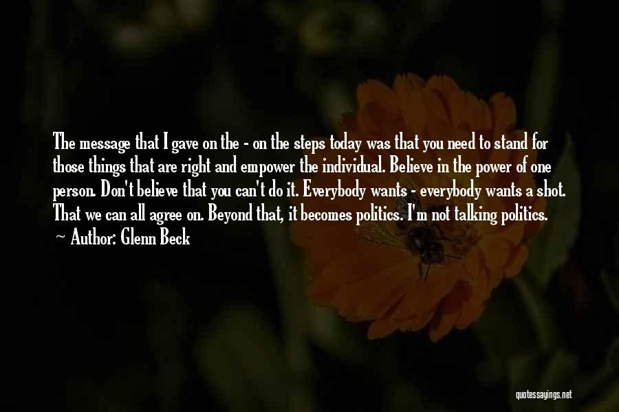 Things I Do For You Quotes By Glenn Beck
