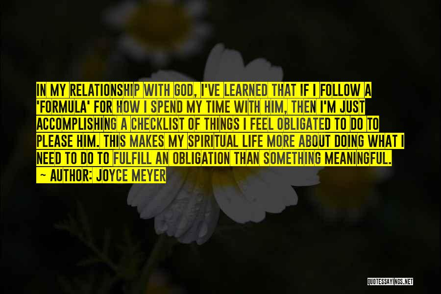 Things I Learned About Life Quotes By Joyce Meyer