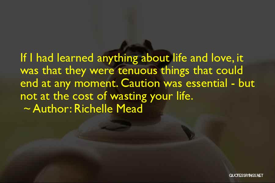 Things I Learned About Life Quotes By Richelle Mead