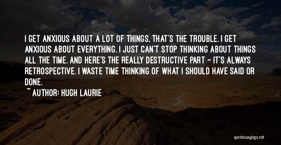 Things I Should Have Done Quotes By Hugh Laurie
