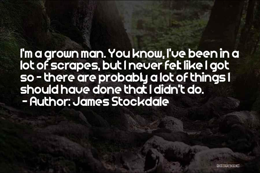 Things I Should Have Done Quotes By James Stockdale