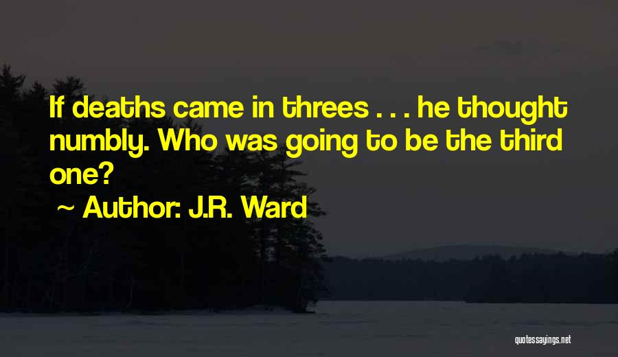 Things In Threes Quotes By J.R. Ward