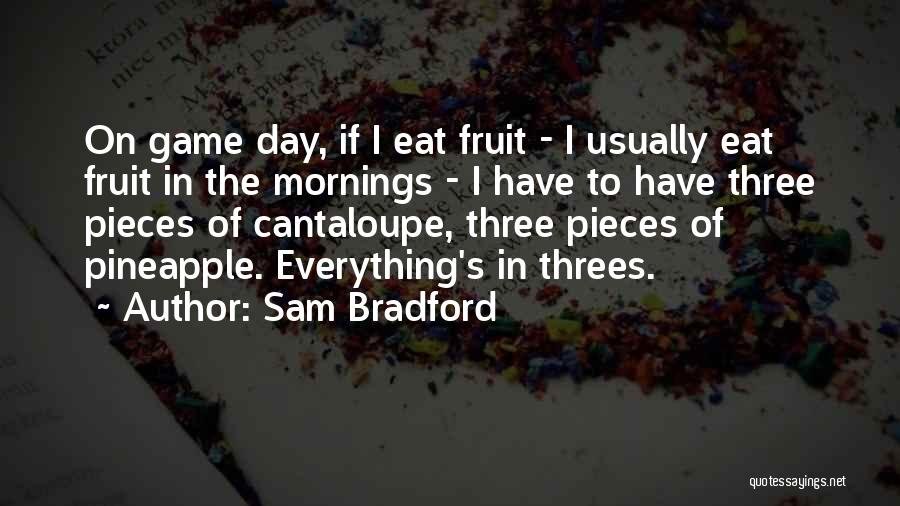 Things In Threes Quotes By Sam Bradford