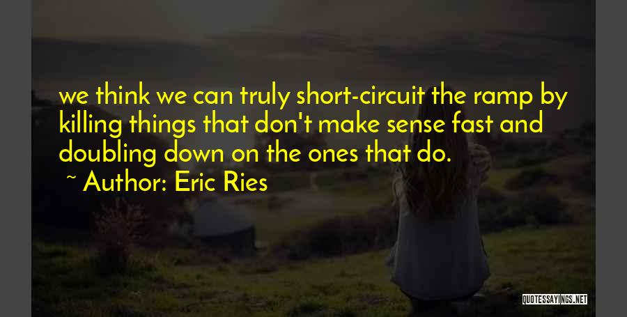 Things Make Sense Quotes By Eric Ries