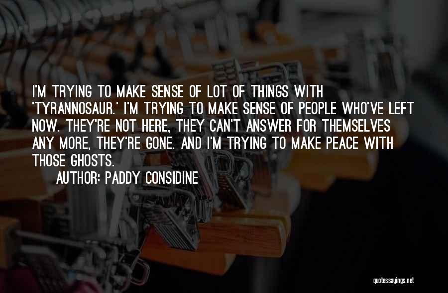 Things Make Sense Quotes By Paddy Considine