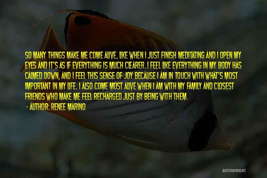 Things Make Sense Quotes By Renee Marino