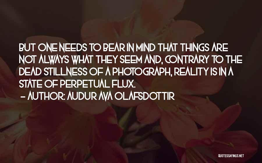 Things Not Always What They Seem Quotes By Audur Ava Olafsdottir