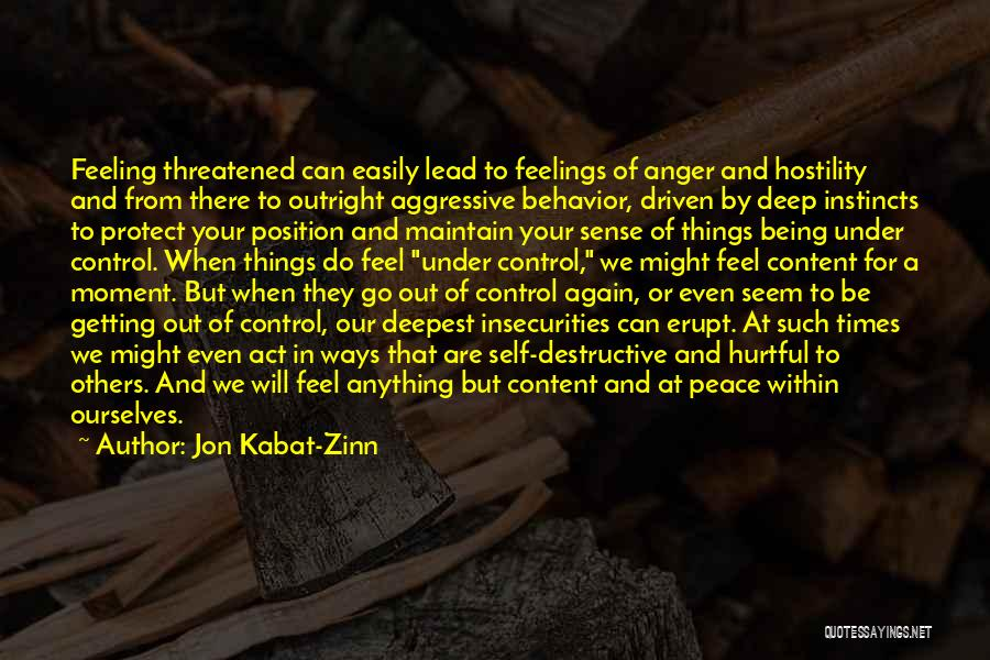 Things That Are Out Of Your Control Quotes By Jon Kabat-Zinn