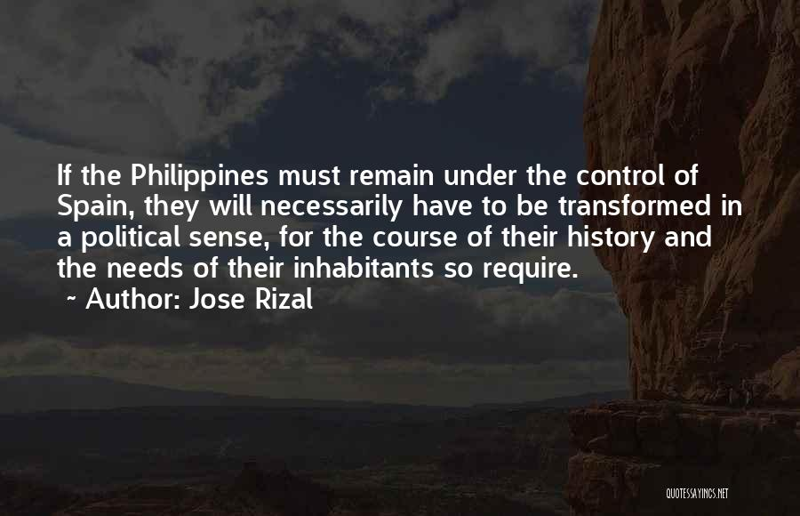 Things That Are Out Of Your Control Quotes By Jose Rizal