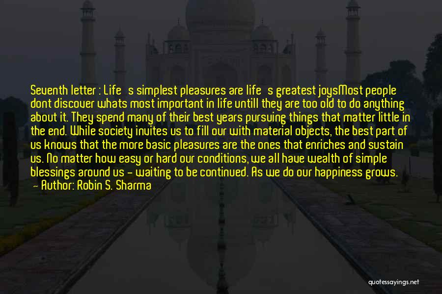 Things That Matter The Most In Life Quotes By Robin S. Sharma