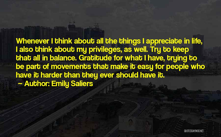 Things To Think About In Life Quotes By Emily Saliers