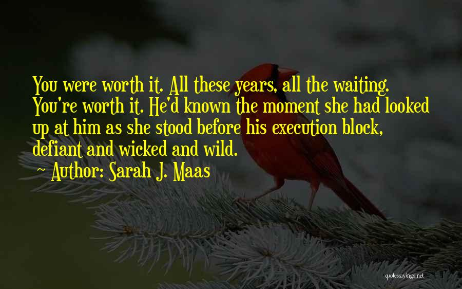 Things Worth Having Are Worth Waiting For Quotes By Sarah J. Maas