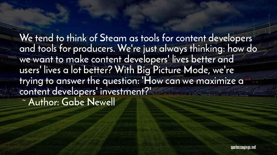 Think Big Picture Quotes By Gabe Newell
