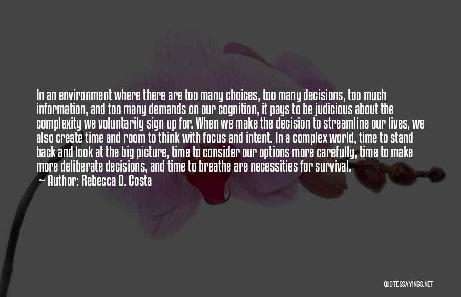 Think Big Picture Quotes By Rebecca D. Costa