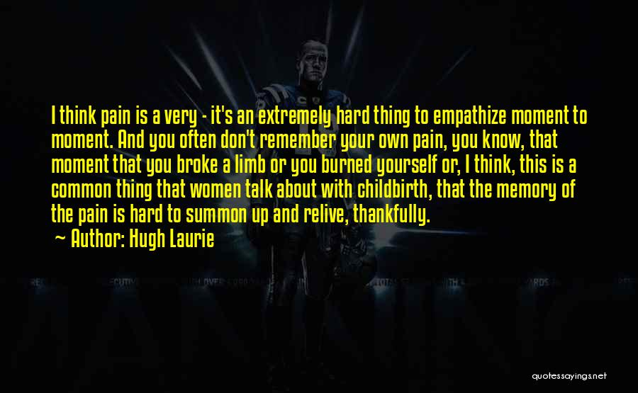 Think Of You Often Quotes By Hugh Laurie