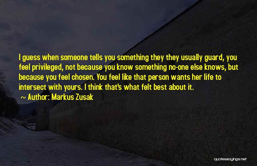 Think You Know Someone Quotes By Markus Zusak