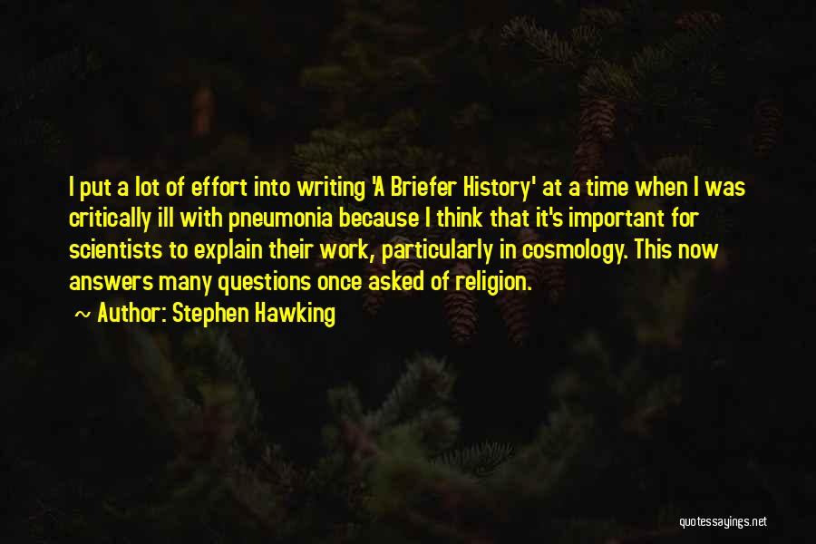 Thinking Ill Of Others Quotes By Stephen Hawking