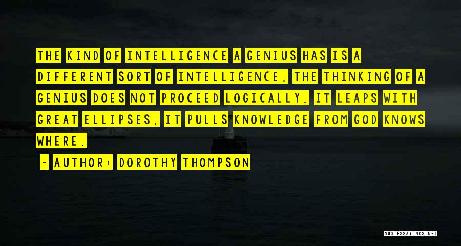 Thinking Logically Quotes By Dorothy Thompson