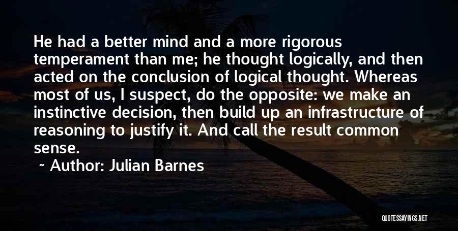 Thinking Logically Quotes By Julian Barnes