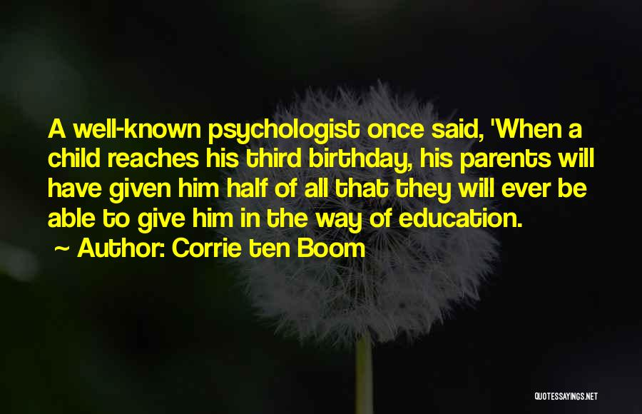 Third Child Quotes By Corrie Ten Boom