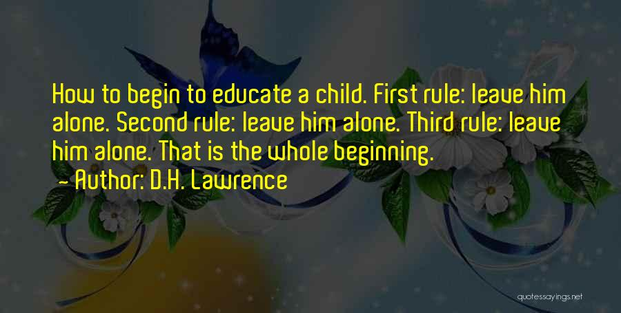 Third Child Quotes By D.H. Lawrence