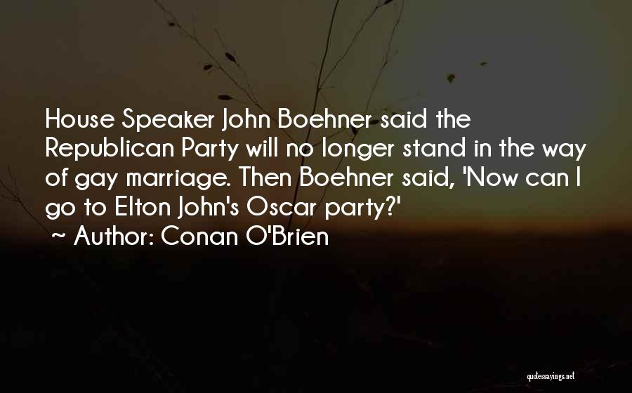 Third Party Marriage Quotes By Conan O'Brien