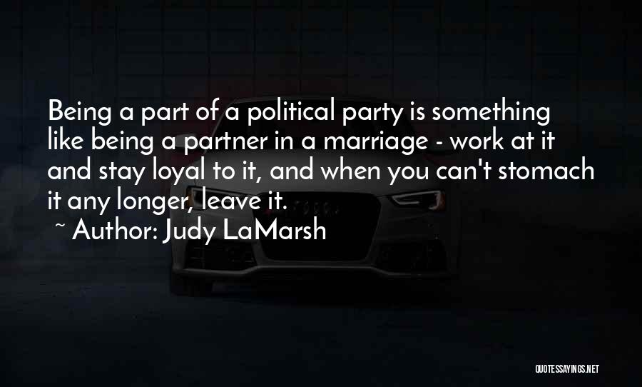 Third Party Marriage Quotes By Judy LaMarsh