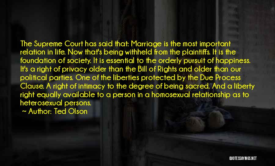 Third Party Marriage Quotes By Ted Olson