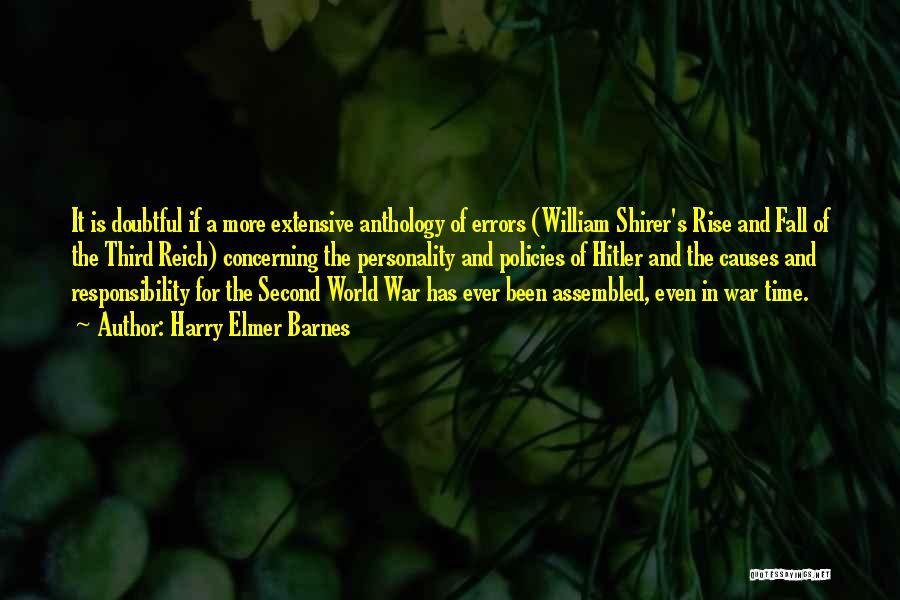 Third World War Quotes By Harry Elmer Barnes