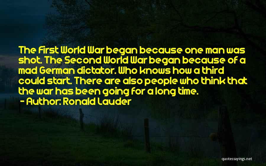 Third World War Quotes By Ronald Lauder
