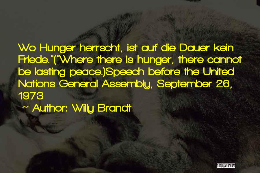 Third World War Quotes By Willy Brandt