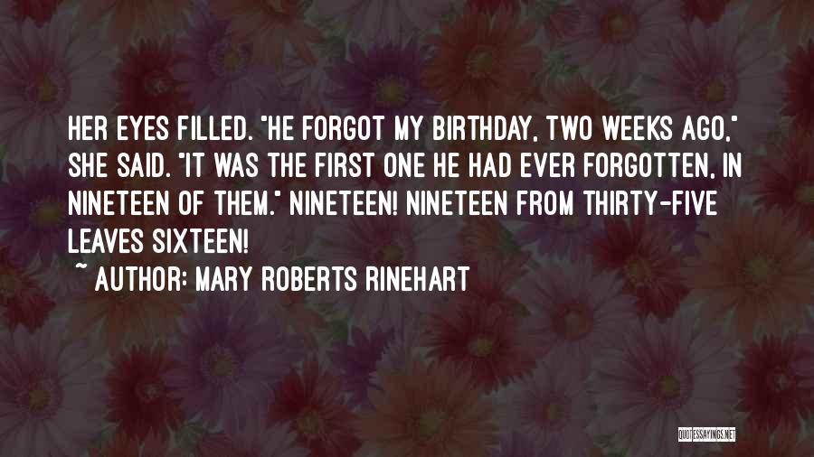 Thirty First Birthday Quotes By Mary Roberts Rinehart