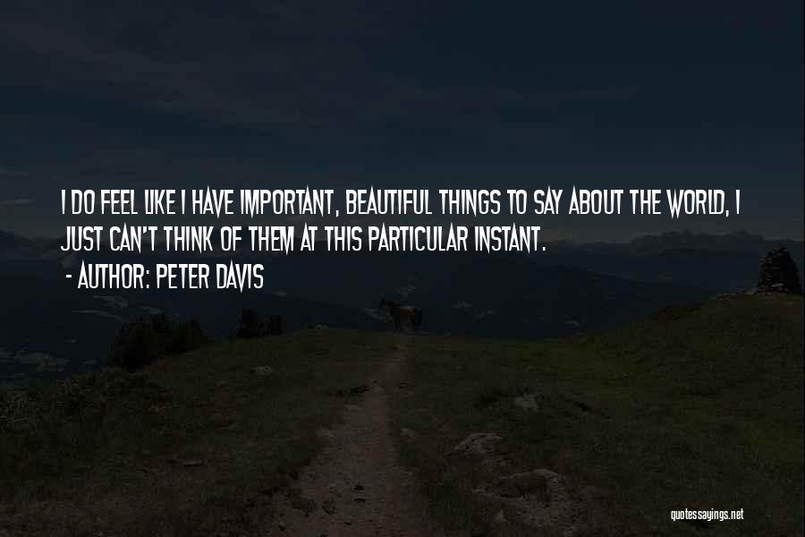 This Beautiful World Quotes By Peter Davis