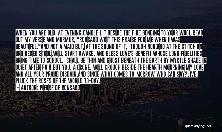 This Beautiful World Quotes By Pierre De Ronsard