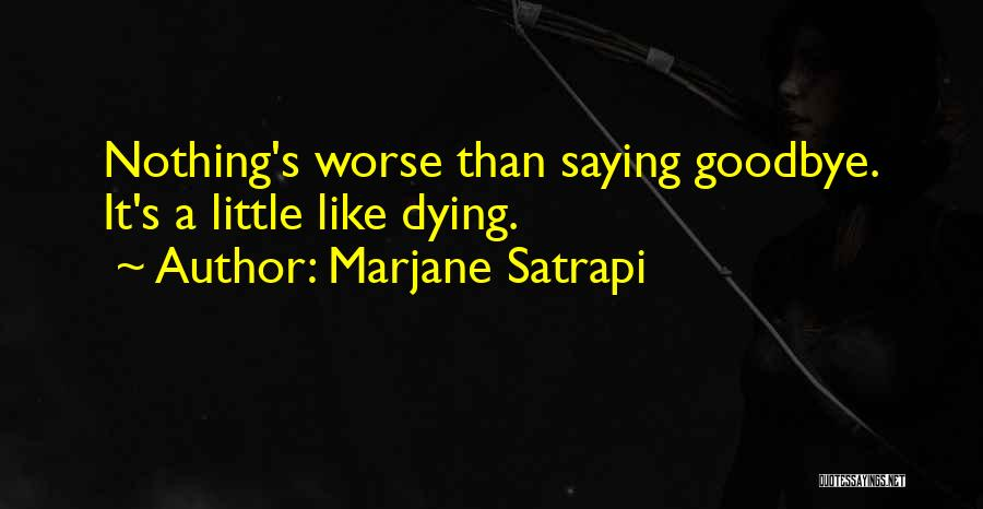 This Is My Goodbye Quotes By Marjane Satrapi