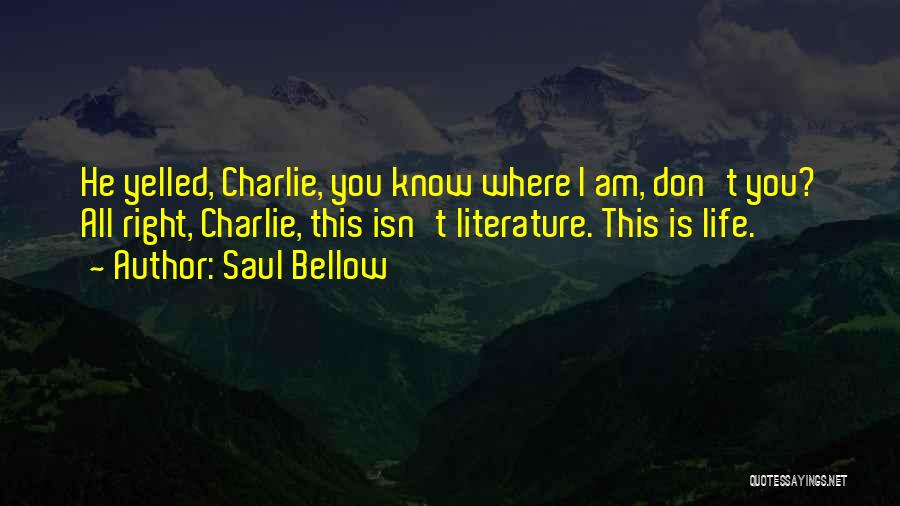 This Isn't Right Quotes By Saul Bellow