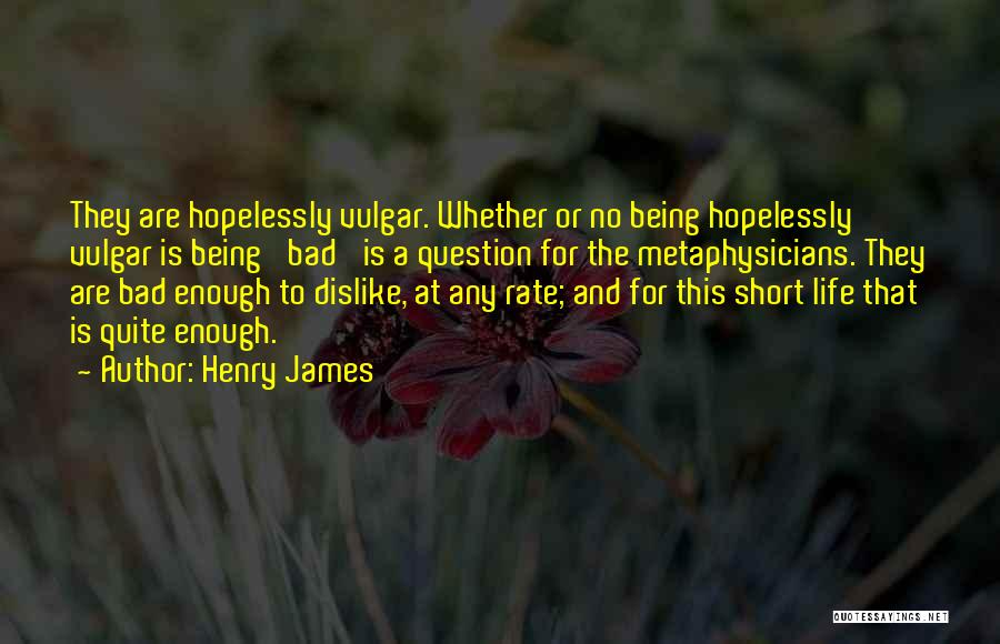 This Life Is Short Quotes By Henry James