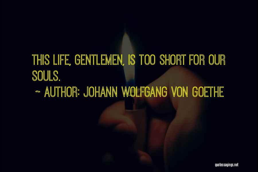 This Life Is Short Quotes By Johann Wolfgang Von Goethe