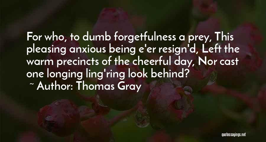 Thomas Gray Quotes 722289