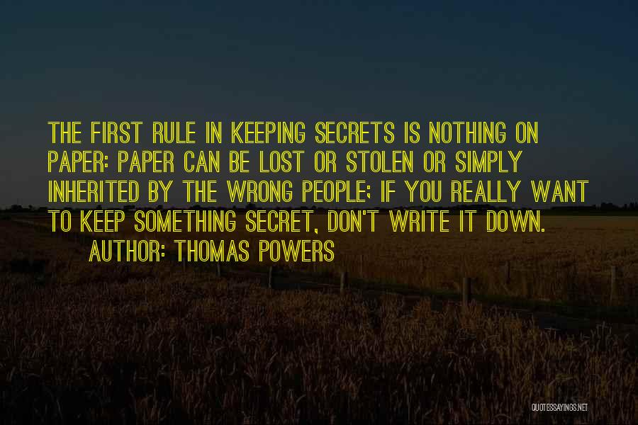Thomas Powers Quotes 1756773