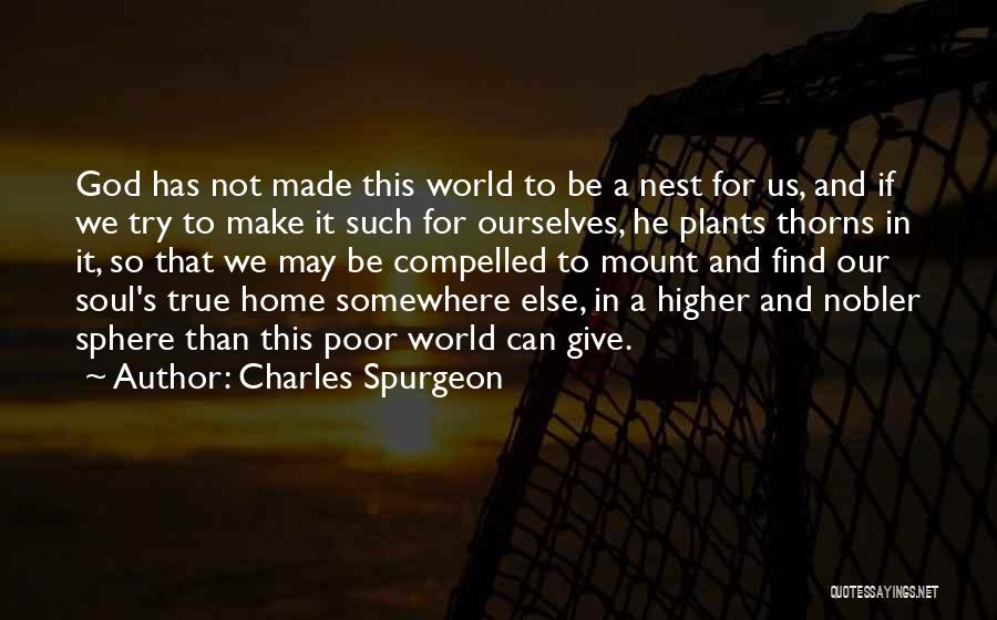 Thorns Quotes By Charles Spurgeon