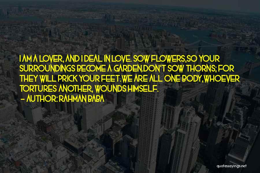 Thorns Quotes By Rahman Baba