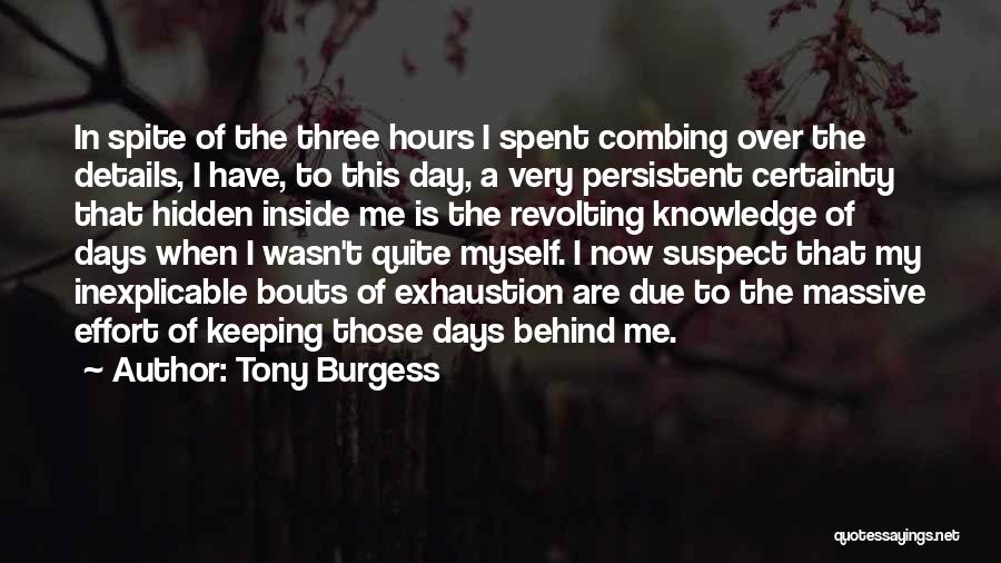 Those Days Are Over Quotes By Tony Burgess