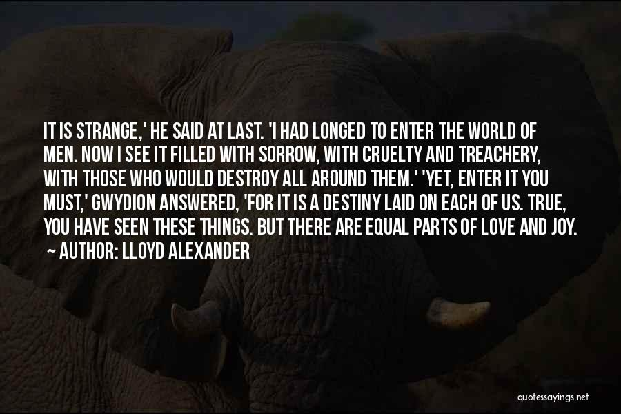 Those Who Love Us Quotes By Lloyd Alexander