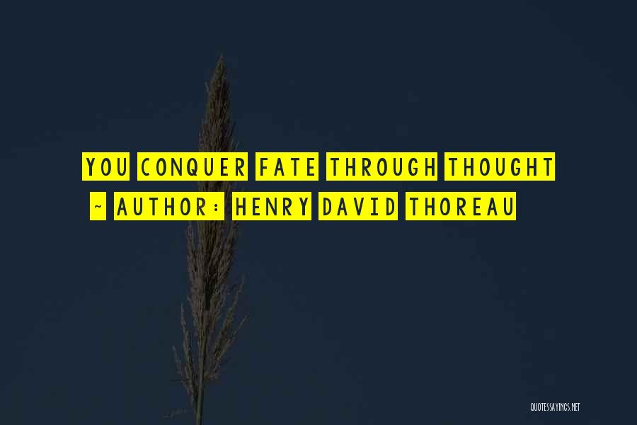 Thought You Quotes By Henry David Thoreau