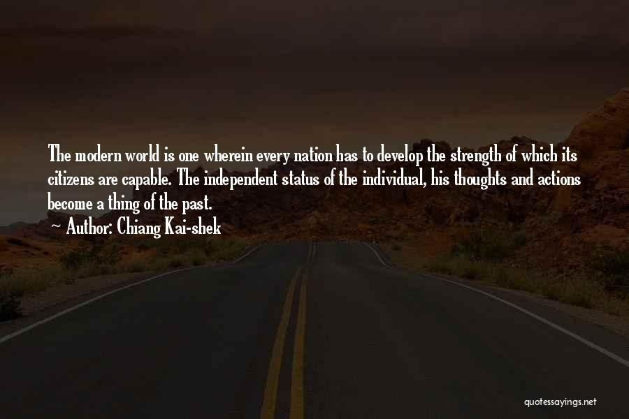 Thoughts Become Quotes By Chiang Kai-shek